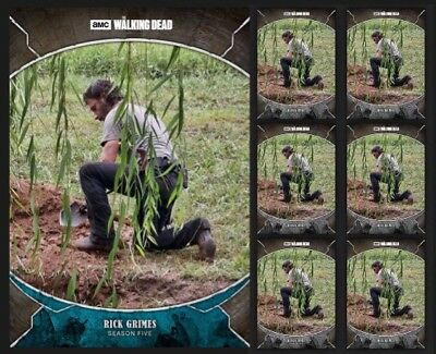 RICK GRIMES-TRAGEDIES-BLUE +6x GRAY-TOPPS WALKING DEAD CARD TRADER DIGITAL