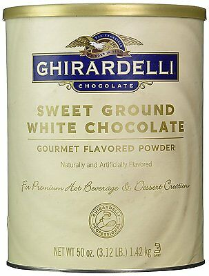 Ghirardelli Sweet Ground White Chocolate Flavor Powder, 3.12 lbs. New Exp 03/18