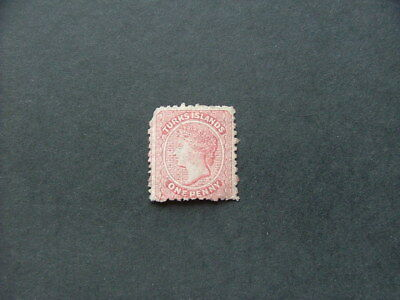 Turks Islands QV 1867 1d dull rose SG1 MNG