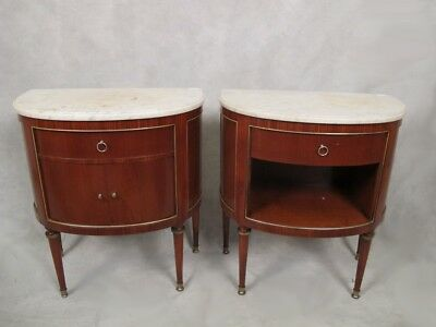 Pair of French Louis XVI style side tables # 11597