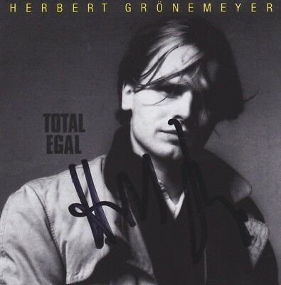 HERBERT GRÖNEMEYER CD Album Booklet IN PERSON signiert Autogramm signed