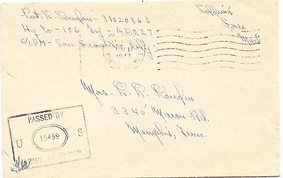 USA Army Post Office cover from the New Hebrides 1944