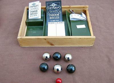 Boules Mini Indoor Carpet Set in wooden box from Janna   Indoor ball game Bowls