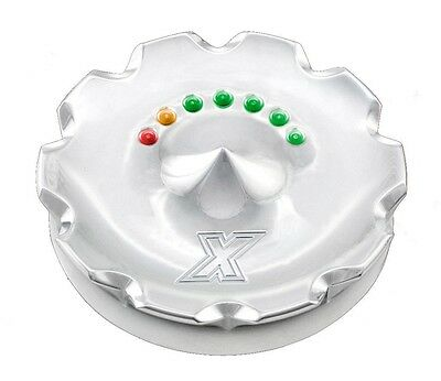 Xtreme Machine Chrome Dominate LED Fuel Gauge 96-UP Screw in Vented 395177