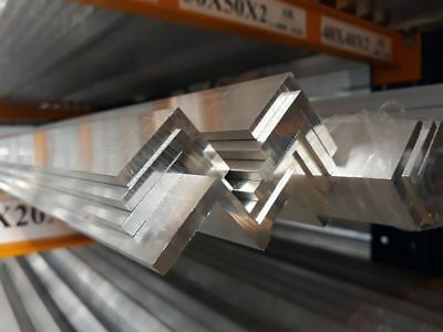 Aluminium Extruded Angle Various Sizes Thickness 2 - 6 mm / 500mm to 5000m Long