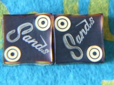RARE VINTAGE BIRDSEYE TARGET SPOT DICE from The SANDS RENO