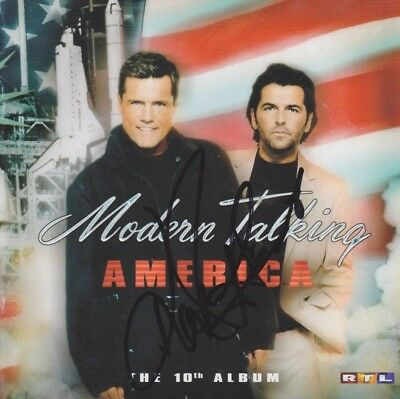 """MODERN TALKING CD Album """"America"""" Booklet IN PERSON signiert Autogramm signed"""