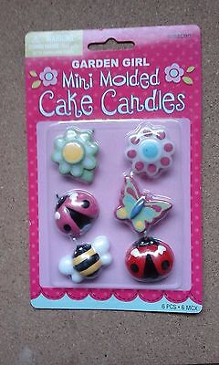 Mini Molded Cake Candles pack of 6