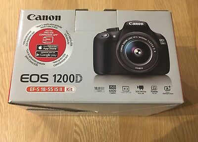 Canon EOS 1200D 18.0MP DSLR Camera & EF-S 18-55mm IS II Image Stabilised Lens