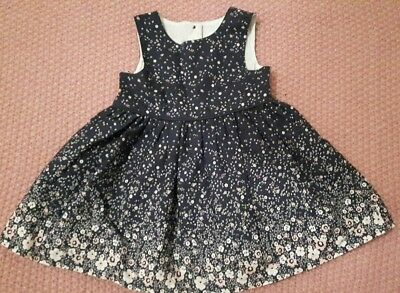 Baby Girl Dress ~ Early Days ~ 3-6 Months ~ Navy, Floral
