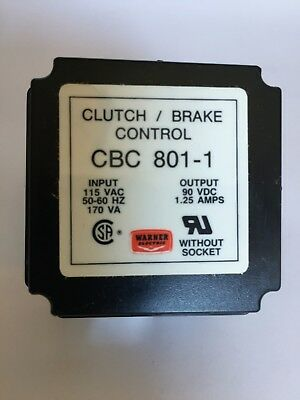Warner Electric CBC 801 1 Clutch Brake Control New warner electric cbc 801 1 clutch brake control relay $100 00 cbc 801 1 wiring diagram at bakdesigns.co