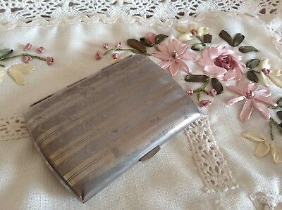 EARLY VICTORIAN COUNTRY GENTLEMAN's SILVER CIGARETTE CASE 🍂 ENGRAVED 🍂 TACTILE