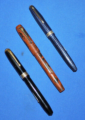 Three Vintage CONWAY STEWART Fountain pens.