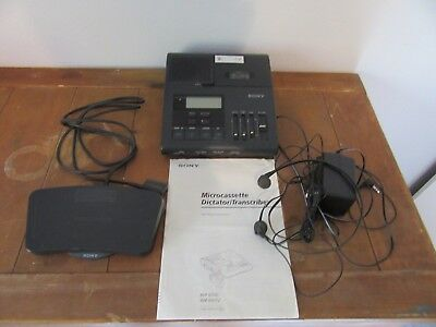 SONY BM-850 MICROCASSETTE  DICTATOR/TRANSCRIBER With Pedal Works Perfect