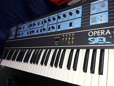 SIEL OPERA 6, very rare vintage analog / digital polyphonic synthesizer as-is