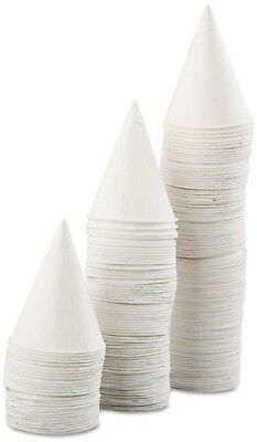 5000 Paper Cone Cups 4 oz. Single-Use White Rolled Rim Water Cooler Cup 25 Boxes