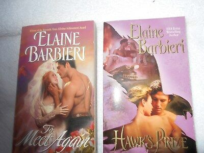 lot of 9 western historical romance books by author Elaine Barbieri