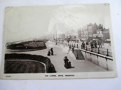 Brighton Hove The Lawns - Old Sussex Postcard
