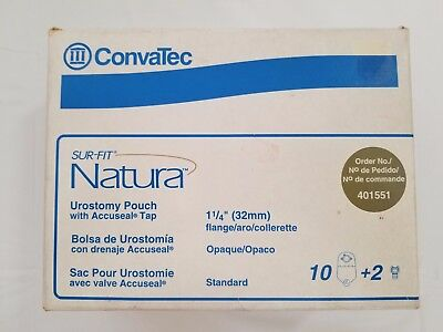 Sur-Fit Natura 2-Piece Urostomy Pouch 1-1/4'', Standard - Box of 10
