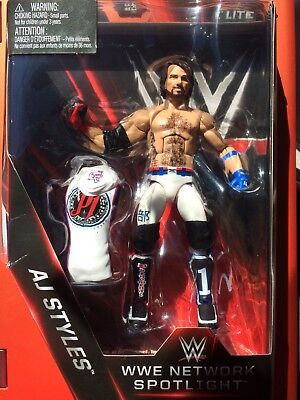 WWE Mattel AJ Styles Network Spotlight Exclusive Elite Series Figure