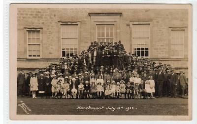 EVENT AT MARCHMONT HOUSE, July 1922: Berwickshire postcard (C31885)