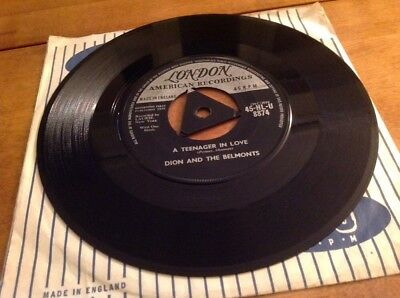 "Dion & the Belmonts - A Teenager In Love 7"" Original 1st Release 1958 London"