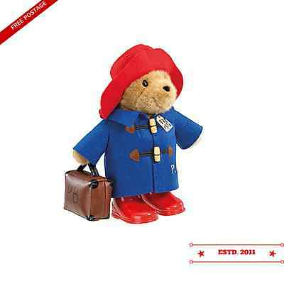 Large Cuddly Classic Paddington Bear with Boots and Suitcase - 33cm (BNWT)