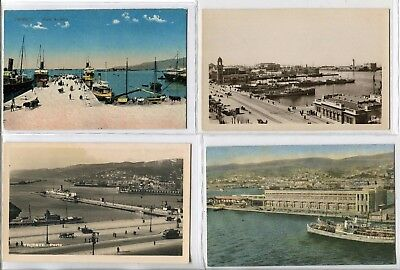 ---QC49 shipping TRIESTE HARBOUR different ships X 4---
