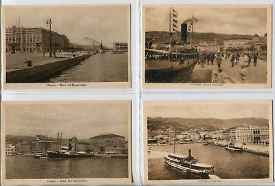---QC50 shipping TRIESTE HARBOUR different ships X 4---