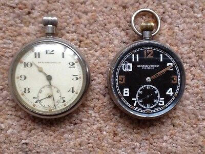 Orator Watch Co./Ryf & Marchand - 2 x Military Pocket Watches