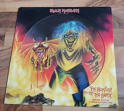 Iron maiden number of the beast picture disc
