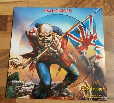 """Iron maiden the trooper 12"""" pic disc"""
