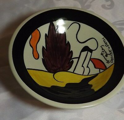 RARE EARLY Lorna Bailey Comport dish House & Path design Signed in Black