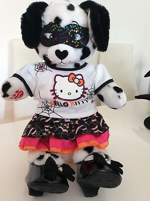 Build a Bear Dalmation Dog ready for her Halloween Party