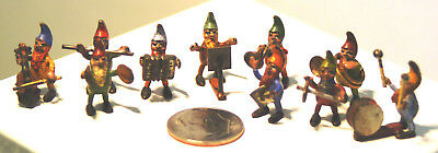 Set 10 Miniature Vienna Bronze Gnome Musicians Band - Austrian Cold Painted