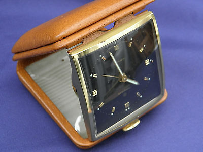 Lovely Clean Junghans 10 Jewels Folding Travel Alarm Clock Excellent Condition