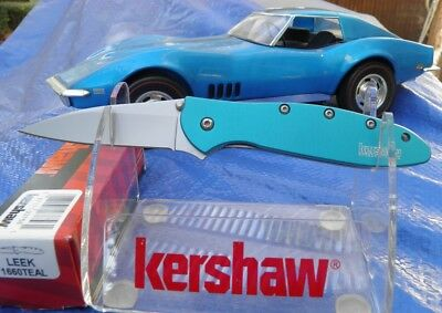 Kershaw Leek 1660Teal Assisted Folder Ken Onion Desig Made In Usa -  New In Box.
