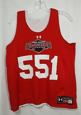Under Armour All America Lacrosse Jersey 551 M Medium Reversible Red White