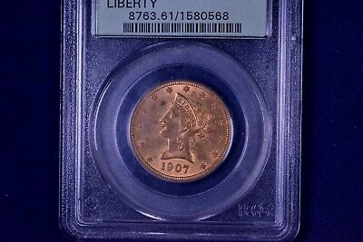 1907 $10 Liberty Head Gold Eagle Uncirculated PCGS MS 61 1580568