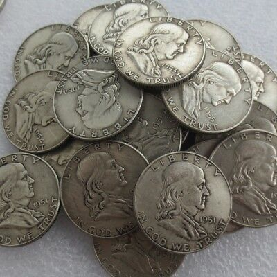 90% Silver Coin Lot , Franklin Half Dollars , Circulated, Choose How Many!