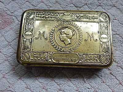 Antique Vintage World War 1 Christmas Tin 1914