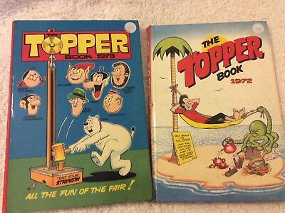 Vintage Topper Annuals 1972, 1973 good, clean condition