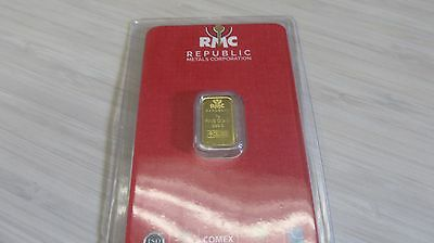 1 gram Gold Bar - RMC  999.9 Fine in Assay -Awesome bar
