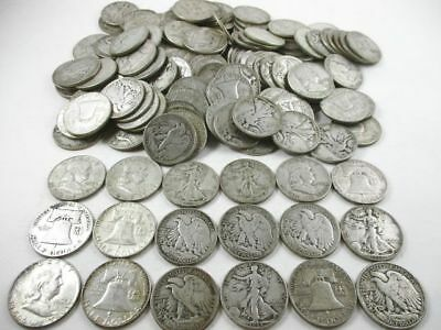 160 U.S. 90% Silver Half Dollar Coins 1964 Before Face Value $80