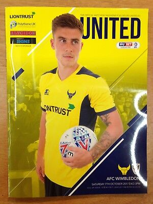 Oxford United v AFC Wimbledon - league 1 : Played 7th October 2017 - Mint