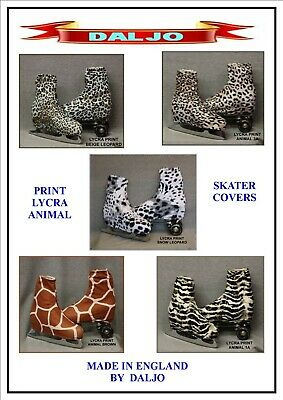 Ice Skating / Roller Skating  Lycra Print Animal Boot Covers