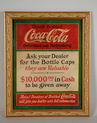 "Coca-Cola Cardboard ""Ask Your Dealer"" Advertising Sign (very rare)"