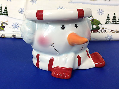 Ceramic Holiday Snowman Decorative Table Candle Holder