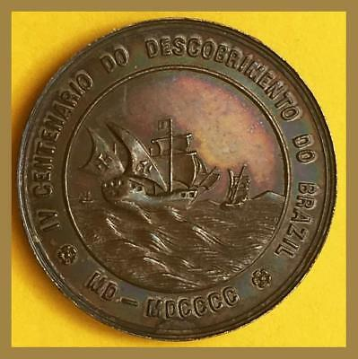 Commemorative Silver Medal/ Centenary of the Discovery of Brazil/  Independence