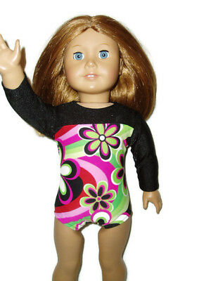 PURPLE LONG-SLEEVED LEOTARD for GYMNASTICS fits all American Girl Dolls